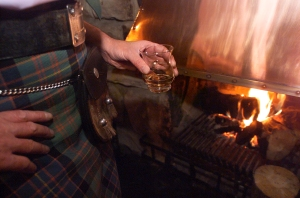 Whisky tasting by the fire